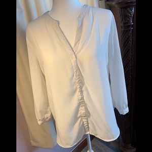 Old Navy Large Sheer White Blouse
